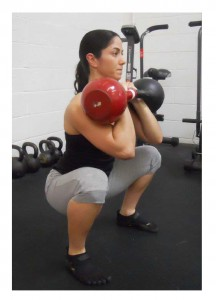 Kettlebell squat variations